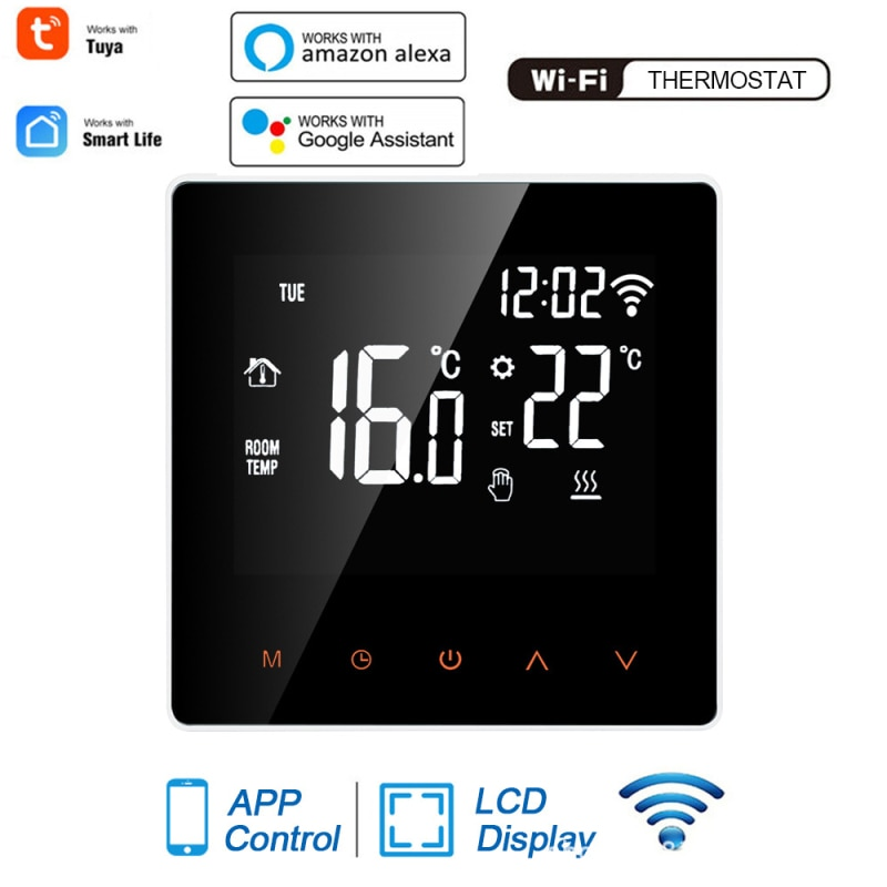 1pc gas HOT 1PC WiFi Smart Thermostat For Electric Floor Heating Water/Gas Boiler Temperature Remote Controller LCD Display Touch Screen