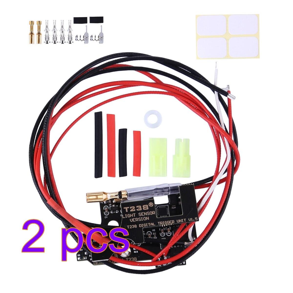 2pcs T238 Programmable MOSFET Electronic Fire Control Module For XWE M4 / JM Gen.9 / FB / Kublai / Jingji / JQ No.2 Gearbox