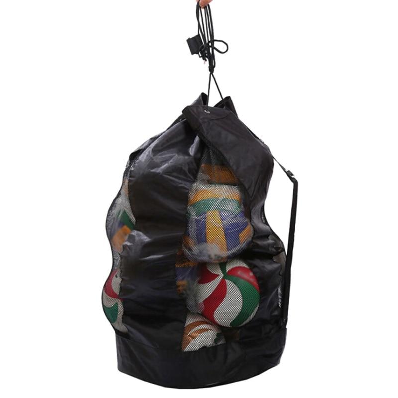 Sports Carrying Sack Large Ball Shoulder Bag Bolso Basketball Bags Net Sport Mesh Drawstring
