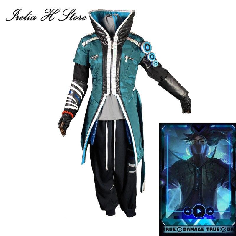 Verdadeiro dano yasuo lol cosplay o inperdoável verdadeiro dano yasuo cosplay traje casaco calças trajes masculinos