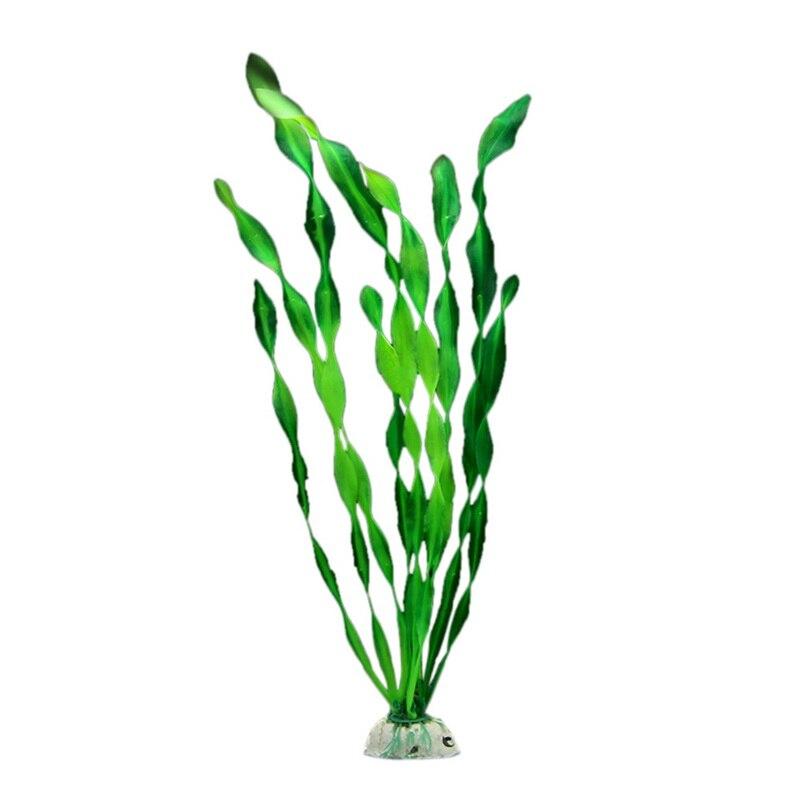 Nueva simulación luminosa de plantas de acuario suministros paisajismo del tanque de peces decoración césped de agua artificial flores de plástico algas marinas