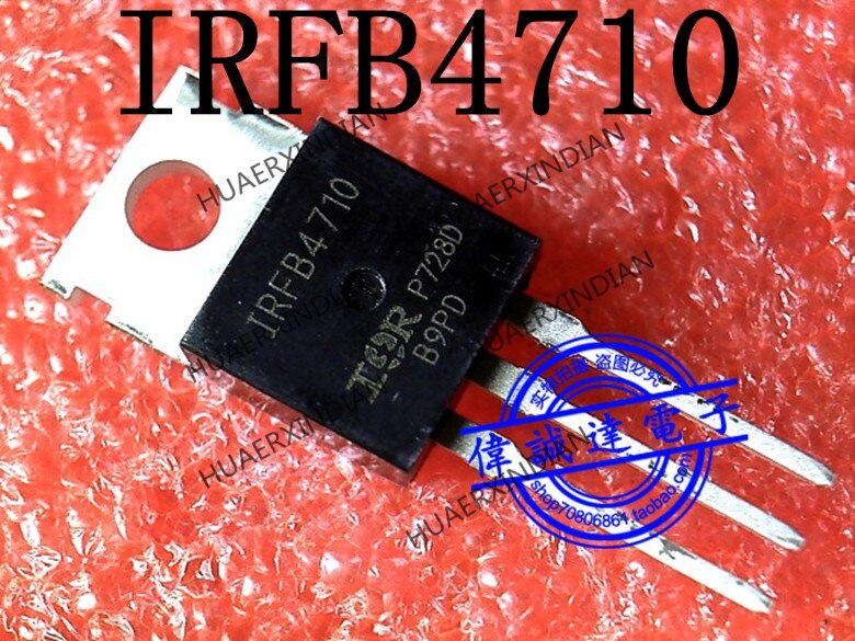 1 piezas nuevo Original IRFB4710PBF IRFB4710 TO-220 en stock imagen real