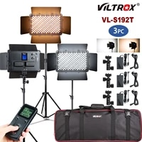 viltrox vl s192t 3set dimmable bi color camera led video light kit with tripod 3300k 5600k cri95 for studio youtube fill light