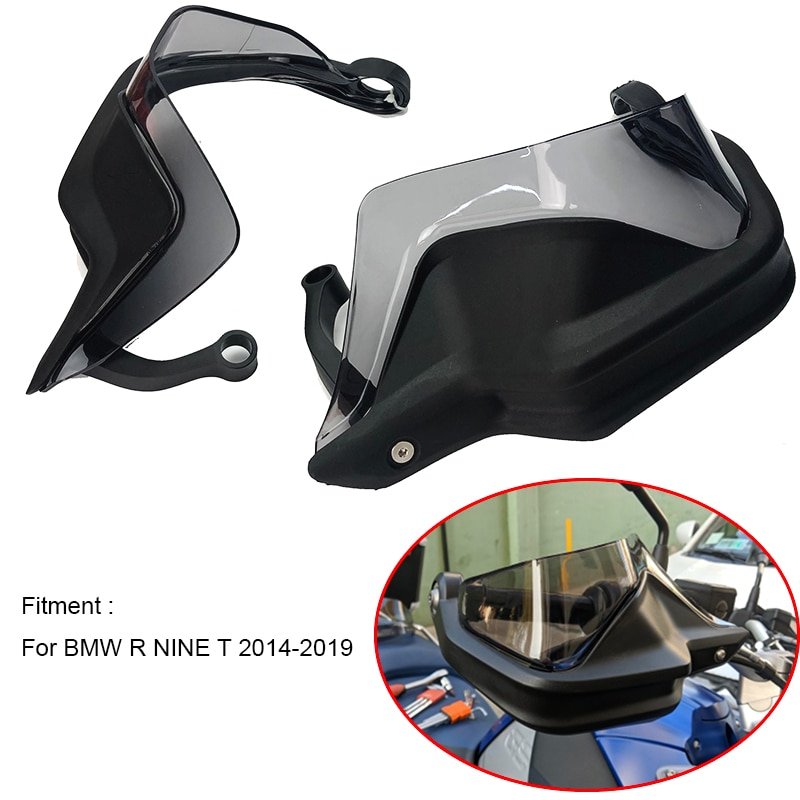 Protector de manos para BMW R NINE T R9T 2014 2015 2016 2017 2018 2019, Protector manual para parabrisas r nine t r9t, transparente