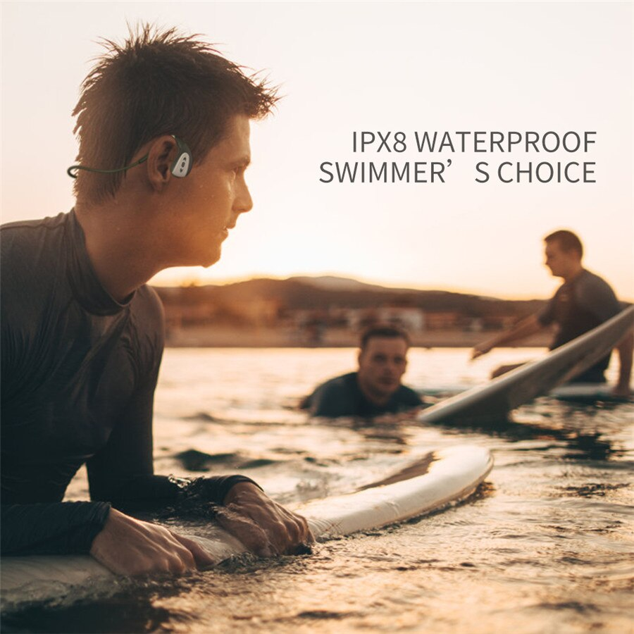 Bluetooth Ear Phone MP3 Underwater Stereo Sound Sport Headset Waterproof IPX8 Headphone for Swimming enlarge