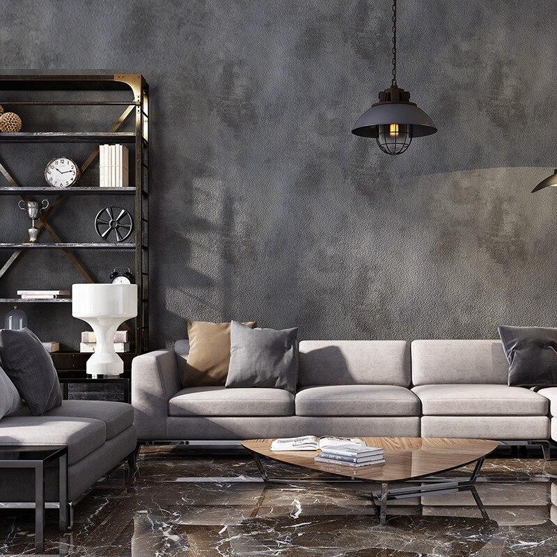 ورق حائط كلاسيكي, ورق حائط سادة رمادي اللون مصنوع من مادة متعدد كلوريد الفينيل يصلح لغرف المعيشة والبارات والمطاعم ومحلات الملابس