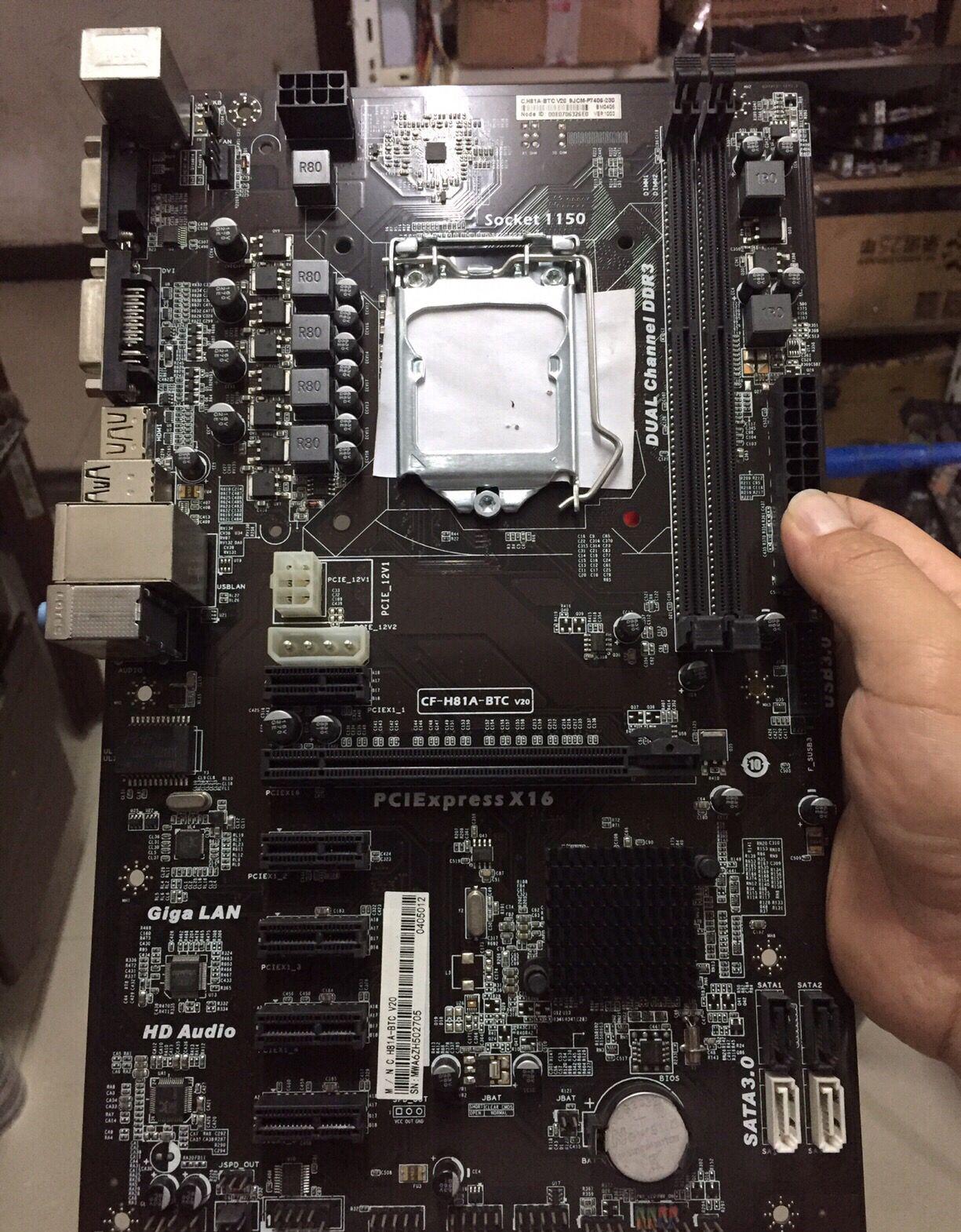 التعدين اللوحة H81P BTC اللوحة 6GPU 6PCI-E H81A-BTC اللوحة CF-H81A-BTC LGA 1150 DDR3 H81 BTC برو H81