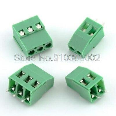 10 unids/lote terminales KF129-5.08-3P 300V 25A tornillo 3Pin recta de 5,08mm Pin PCB Bloque de terminales de tornillo conector 24-12A WG KF129-3P