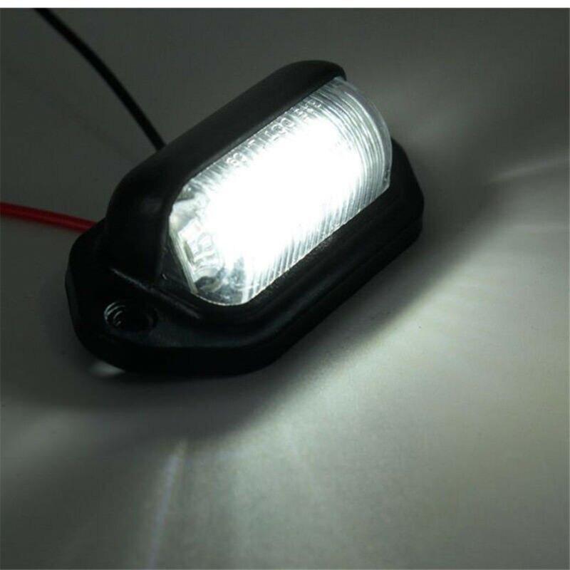 2x wodoodporny 6-LED 12V oświetlenie tablicy rejestracyjnej samochodów ciężarówki łodzi przyczepy krok lampy usa
