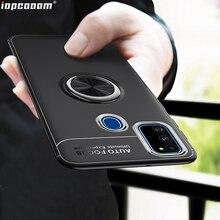 Pour Samsung Galaxy A70S A50S A51 A71 A91 étui en TPU avec anneau de doigt support de magnétisme Coque arrière de téléphone