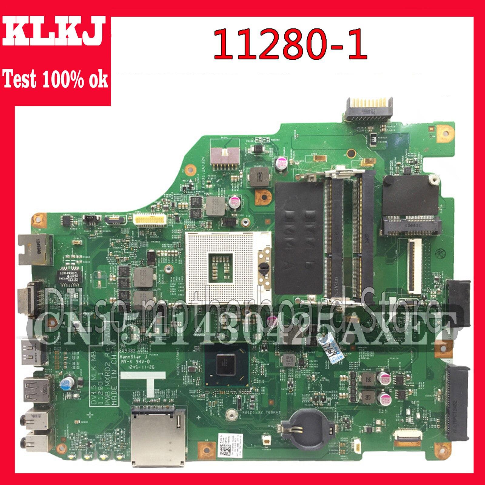 KLKJ 11280-1 لـ Dell 3520 DV15 MLK MB 11280-1 PWB:MXRD2 REV:A00 لوحة الأم للكمبيوتر المحمول DELL INSPIRON 3520 HM75 Test