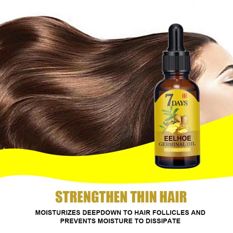 7 Days Effective Natural Ginger Plant Essence Hair Loss Treatment Repair Hair Loss Alopecia Liquid Damaged Hair Repair Growing