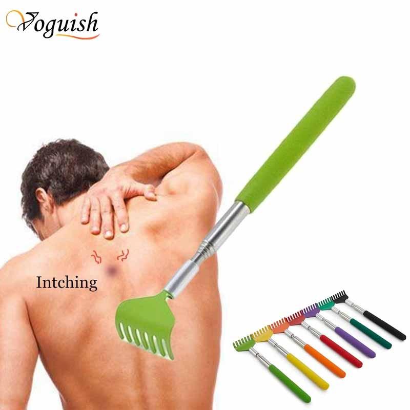 Stainless Steel Claw Back scraper Telescopic Retractable Back Scratcher Extendible Body Massage Hack