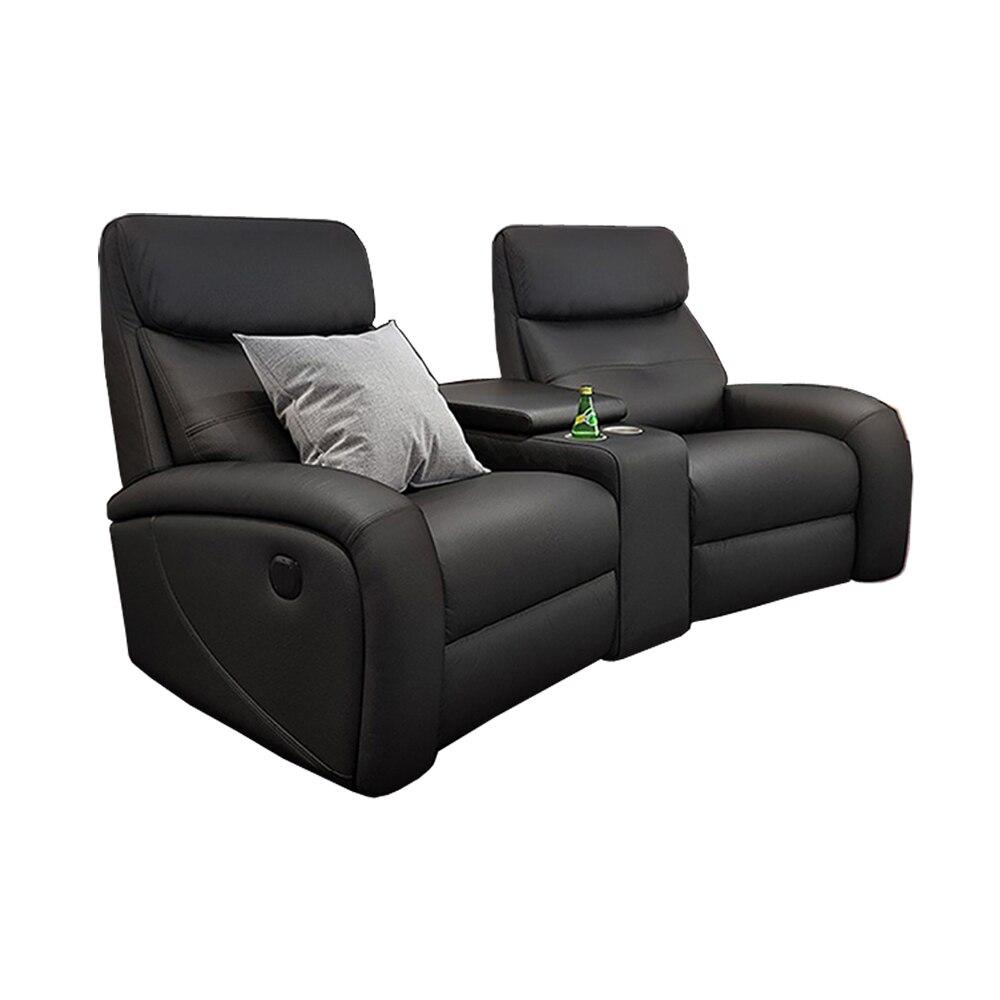 Sofá eléctrico reclinable para sala de estar, sillón de cuero auténtico funcional para cine, masaje relajante, sofá nórdico moderno, muebles de sala c