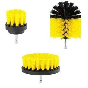 Image 3 - 3 шт. круглая полностью электрическая щетина дрель роторный набор инструментов для уборки скруббер чистящий инструмент кисти инструмент для мытья автомобиля