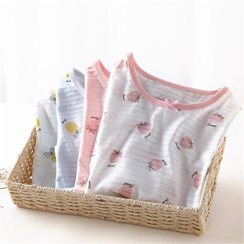 Camisón de algodón para niños princesa niños niñas ropa de casa de verano delgado vestido de la familia ropa de casa de bebé niño ropa de dormir Pijamas