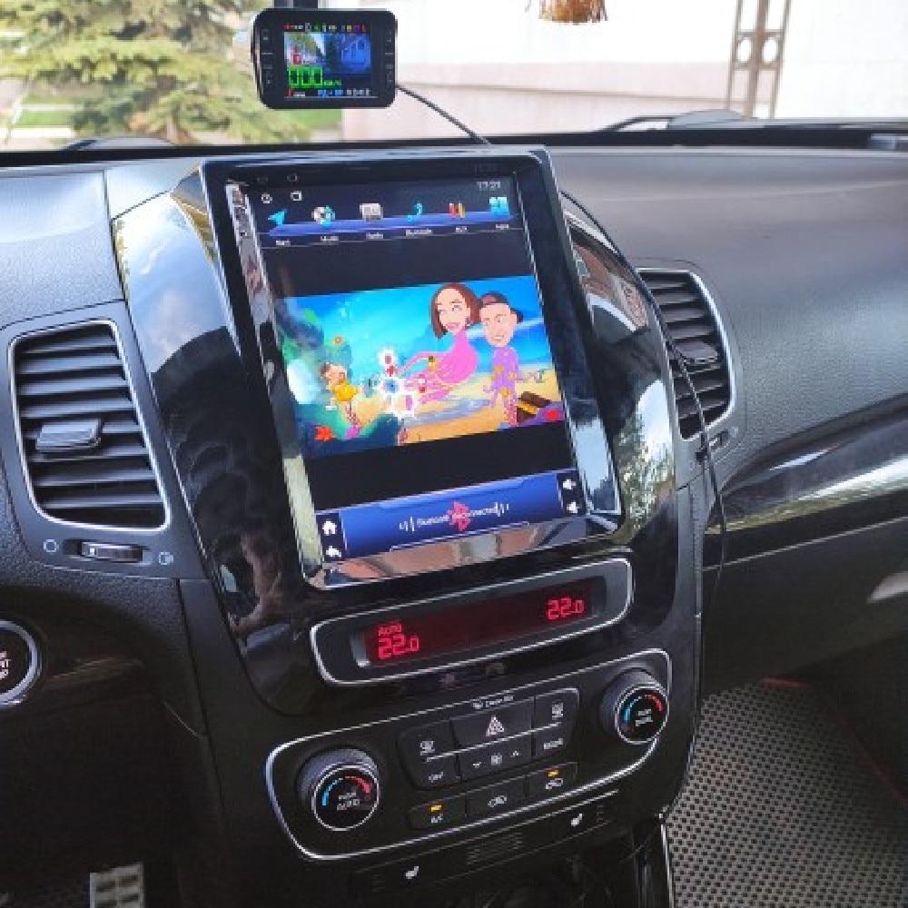 Vertical Tesla Style Android Car Radio For Kia Sorento 2013 2014 Multimedia Player Auto GPS Navigati