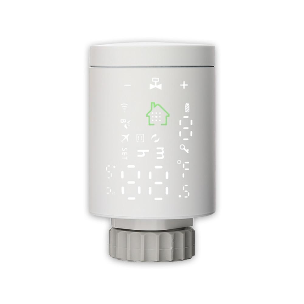Wifi Zigbee Smart Radiator Actuator Valve Thermostat Programmable Temperature Controller Voice Control Alexa Tuya IFTTT App