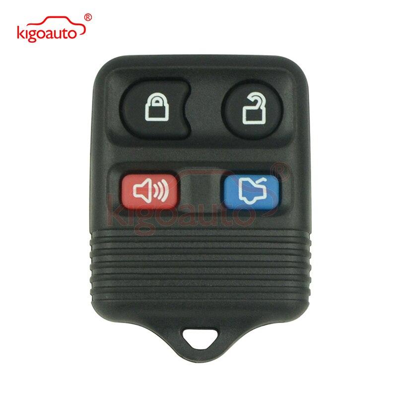 Kigoauto remoto fob 4 botón 315Mhz CWTWB1U331 CWTWB1U345 para ford Mustang se Lincoln LS coche Mercury Grand Marquis Sable