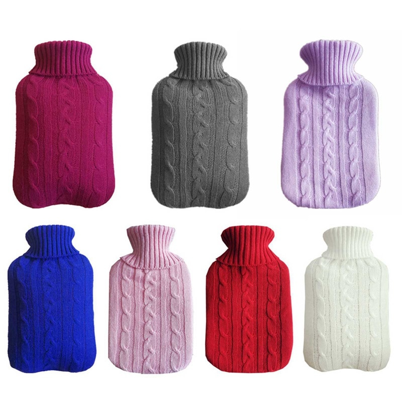 2000ml Cover Knitted Cold-proof Washable Removable Large Protective Heat Preservation For Hot Water Bottle Safe Without Bottle enlarge