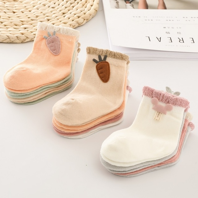 1 pair Baby Socks Boys Girls Cartoon Accessories Decorative Socks Cotton Kids Socks Soft Newborn Socks Clothes Accessories