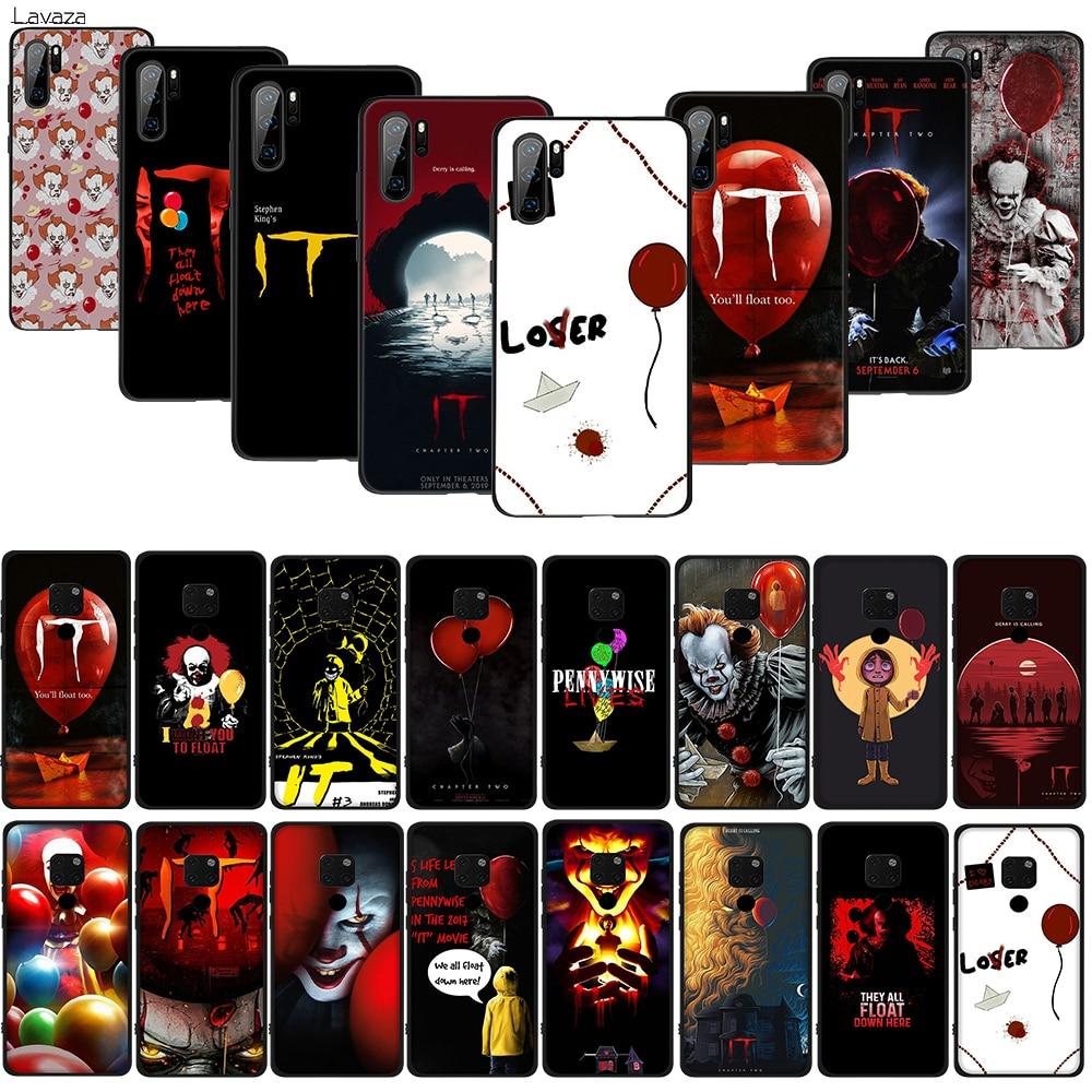 Lavapennywise capa de silicone para celular, tpu macio, capa para huawei p10, p20, p30 lite, pro p smart, z