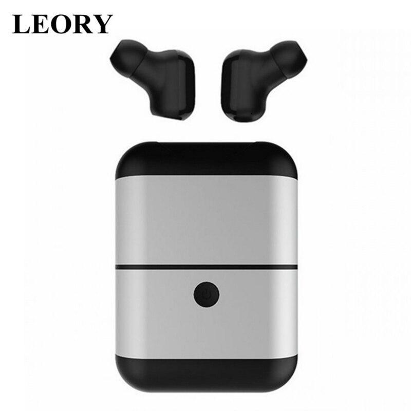 LEORY Mini auriculares inalámbricos bluetooth X2 TWS auriculares estéreo inalámbricos llamada Binaural IPX5 auriculares deportivos impermeables con micrófono