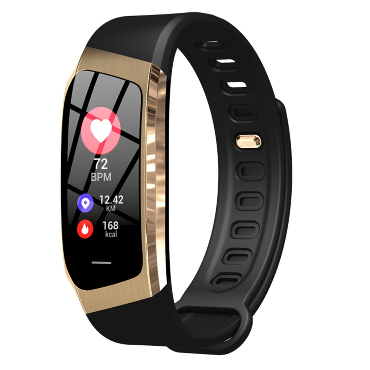 E18 couleur écran intelligent BT Bracelet étanche pression artérielle moniteur de fréquence cardiaque sport intelligent Fitness Bracelet montre pour Android IOS