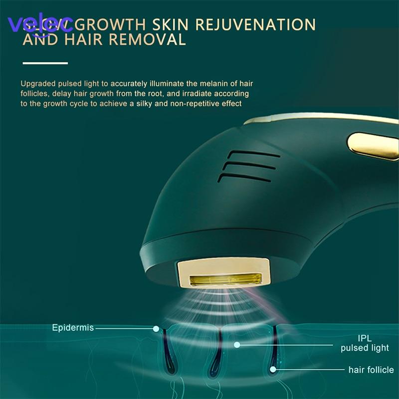Velec 500000 Flashes IPL Epilator Permanent IPL Permanently Photoepilator Hair Removal Depiladora Painless Electric Epilator enlarge