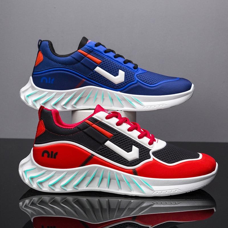 Zapatillas de deporte para hombre, zapatos informales ligeros de fondo suave deportivas de correr de malla transpirables, novedad de verano 2021