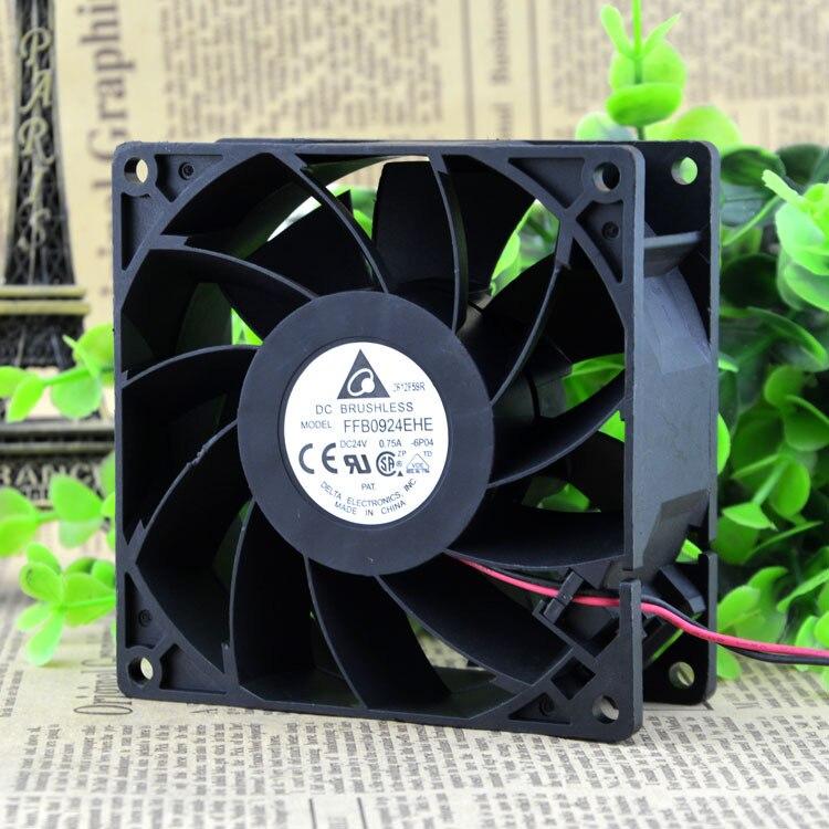 FFB0924EHE 24V 0,75 a Original para DELTA 92x92x38, gran volumen de aire, inversor, ventilador de refrigeración