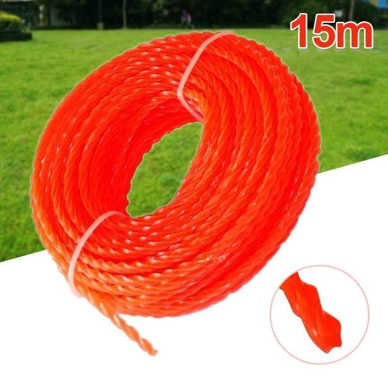 3MM*15M Nylon  Line Grass Brush cutter Cord Trimmer Replacement Spool garden tools  trimmer head  line trimmer head