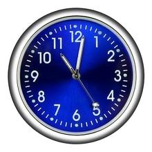 NEW-Car Clock Car Clock Luminous Mini Automobiles Internal Stick-On Digital Watch Mechanics Quartz C