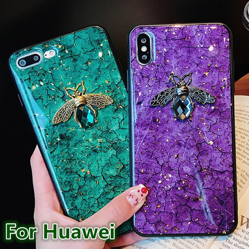 Funda de teléfono de silicona para Huawei P30, P20 lite Pro, honor V30, V20, V10, 9X, Pro Mate 30 y 20 lite, de lujo, metal, diamante