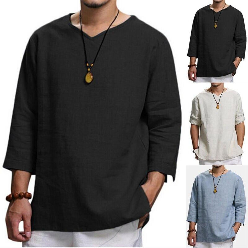 Фото - Мужская однотонная блузка с длинным рукавом, Повседневный пуловер, джемпер, удобные футболки, мужская футболка с длинным рукавом, мужские р... футболка с длинным рукавом opium футболка с длинным рукавом