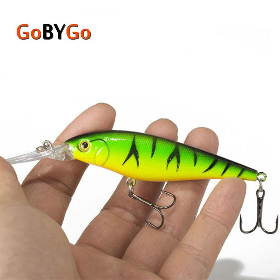 Gobygo isca de pesca 1 pçs pique bait minnow 11cm 10.5g isca de natação profunda wobblers crankbait pesca equipamento