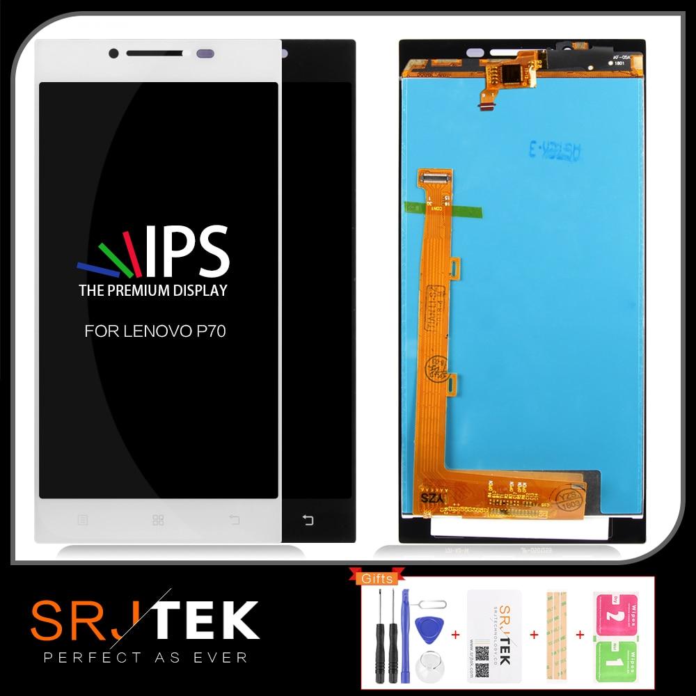 SRJTEK para Lenovo P70, pantalla LCD de cristal, Sensor digitalizador de matriz de pantalla táctil con marco para Lenovo P70-A P70-T P70A P70T