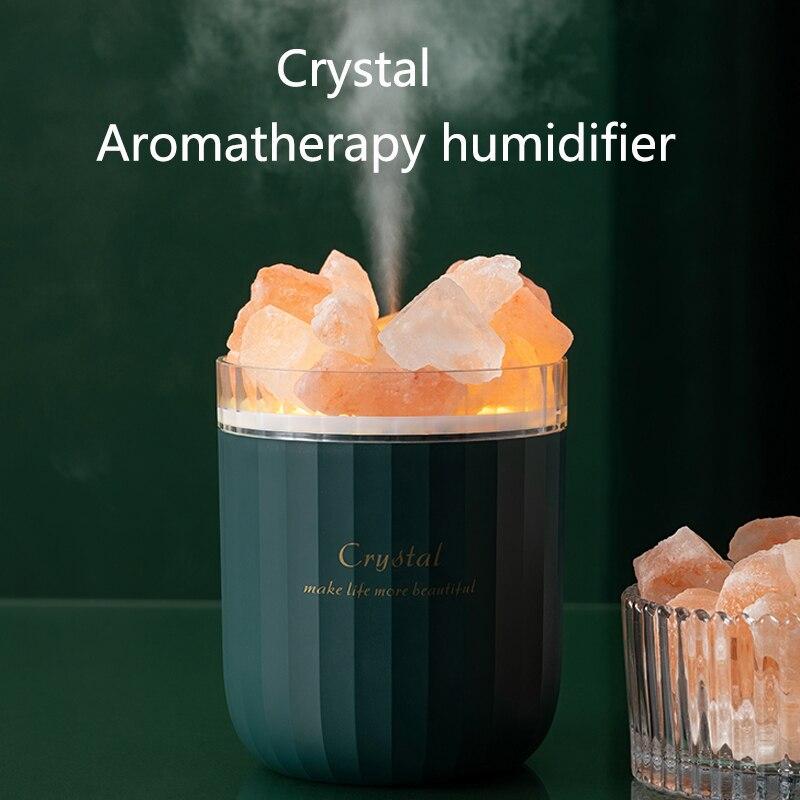 400 مللي محمول كريستال مرطب للعلاج بالروائح USB بالموجات فوق الصوتية زيت عطري معطر الهواء المرطب مع مصباح الجو