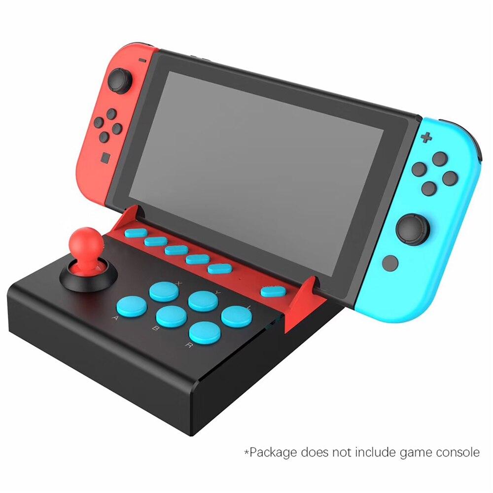 Mando de Control de un solo balancín con 8 Botones de acción Tubro adaptador Arcade mango de juego USB para Nintendo Switch
