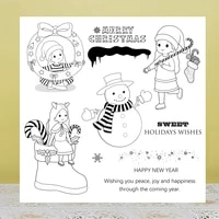 zhuoang christmas snowman girl clear stampsseals for diy scrapbookingcard makingalbum decorative silicon stamp crafts