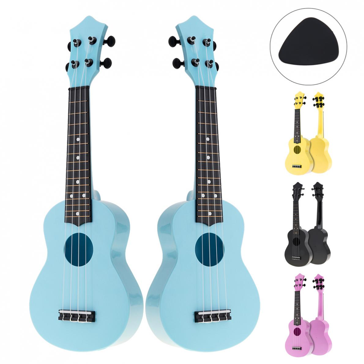 21 Inch Soprano Acoustic Ukulele Colorful   ABS Plastic  4 Strings  Hawaii Guitar Musica Instrument for Kids and Music Beginner enlarge