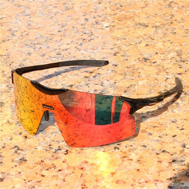 Evzero lente a todo color polarizada TR90 gafas deportivas hombres MTB montaña bicicleta ciclismo gafas de sol correr pesca