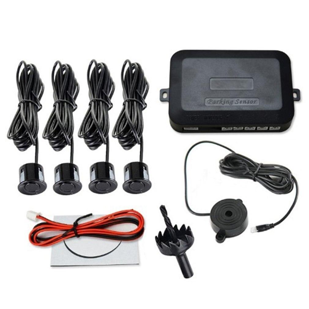 12 В комплект автомобильных датчиков парковки обратный резервный радар сигнальный индикатор зонд Система 4 зонда звуковой сигнал датчик дет...