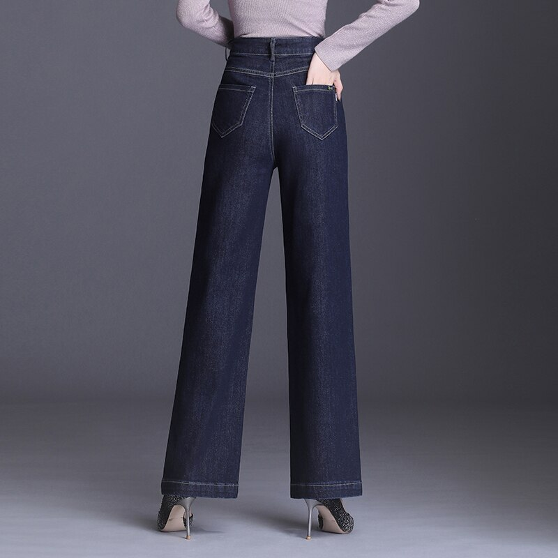 Waist Loose Jeans For Women Flared Trousers Size 7XL 6XLLong Wide Leg Jeans New High Waist Loose Tro