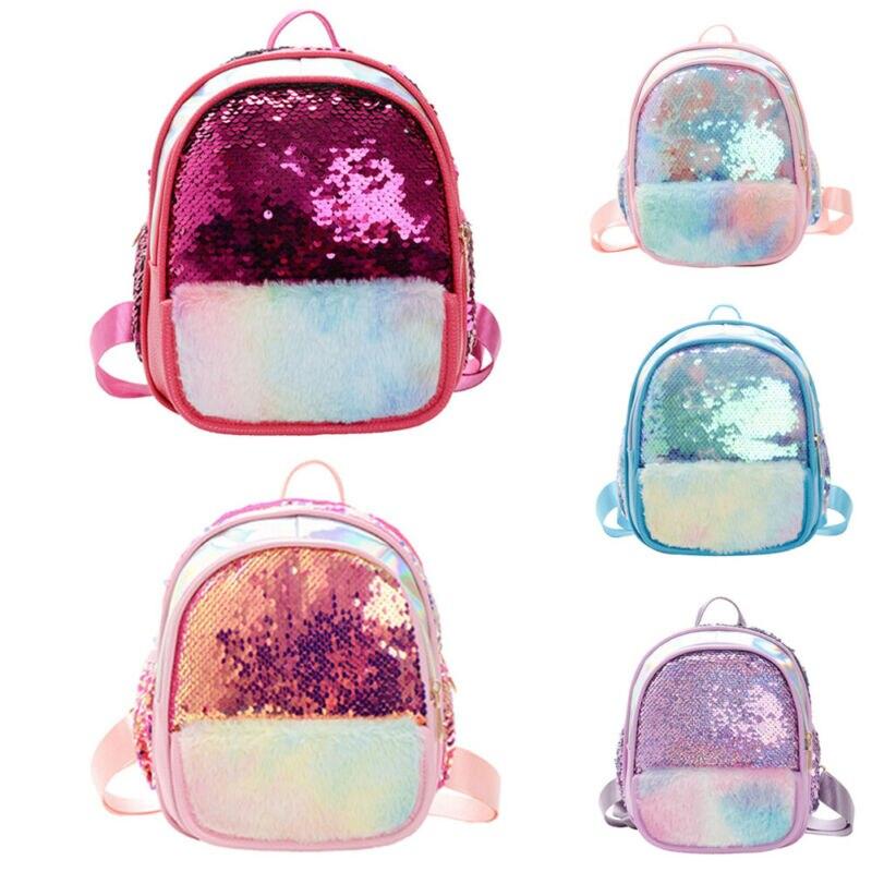Mochila de lentejuelas brillantes, mochila brillante, mochila escolar de viaje, mochila de hombro