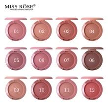 12 couleurs Miss Rose Blush Palette pêche joue miroitant mat bronzant Singel fard à joues visage Contour cosmétiques maquillage poudre