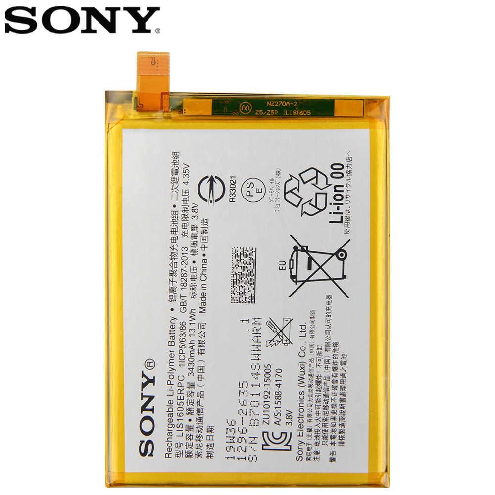 Sony Batería Original Para Teléfono Sony Xperia Z5 Premium Z5p Dual E6853 E6883 Lis1605erpc Batería De Repuesto Auténtica De 3430mah Baterías Para Teléfonos Móviles Aliexpress