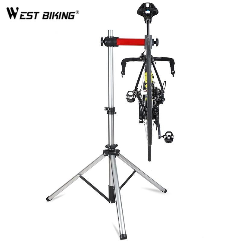 WEST BIKING-حامل إصلاح الدراجة الاحترافي ، قابل للطي ، قابل للتعديل ، سبائك الألومنيوم ، لوقوف السيارات