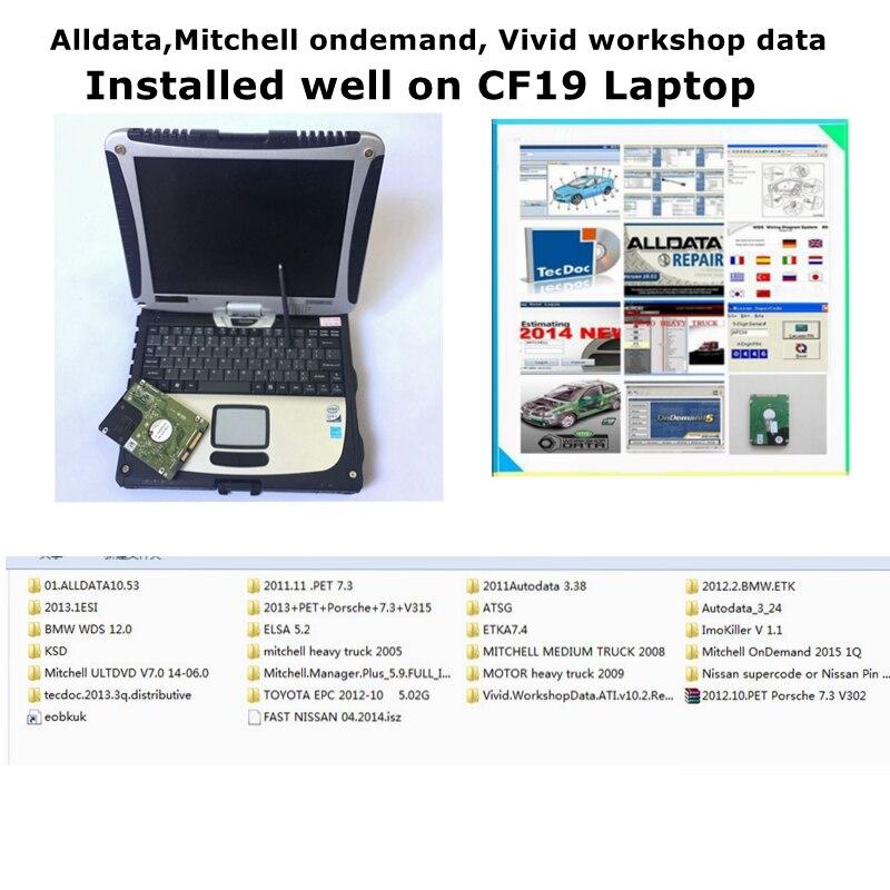 2020 todos os dados de reparação automóvel para panasonic cf19 computador portátil 4g alldata 10.53 mit/chell 2015 atsg 2017 26 in2tb hdd instalar bem