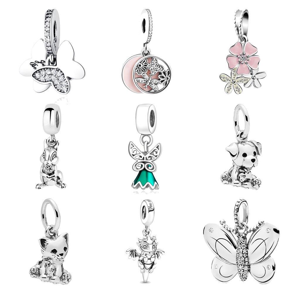 Tier Charme Perlen Anhänger Für Fit Pandora Charms Armbänder Sterling Silber 925 Original Armreif Halskette Schmuck, Die DIY